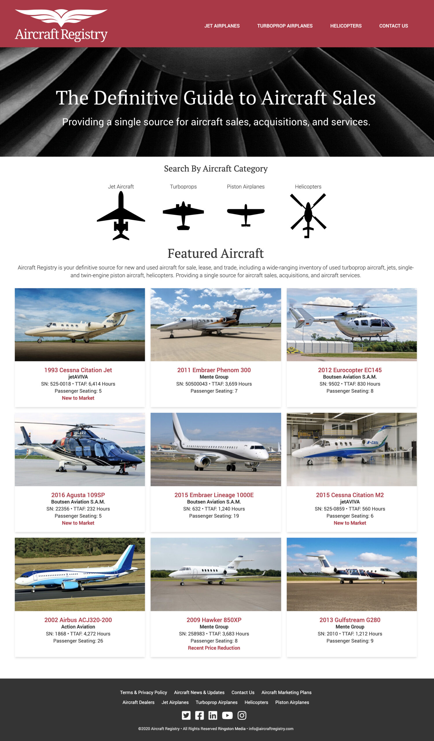 Aircraft Registry - Homepage