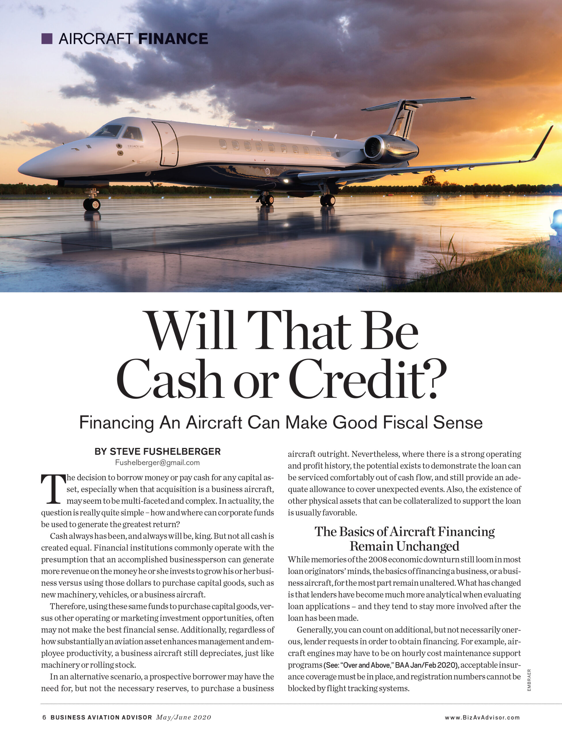 Business Aviation Advisor Featured Article